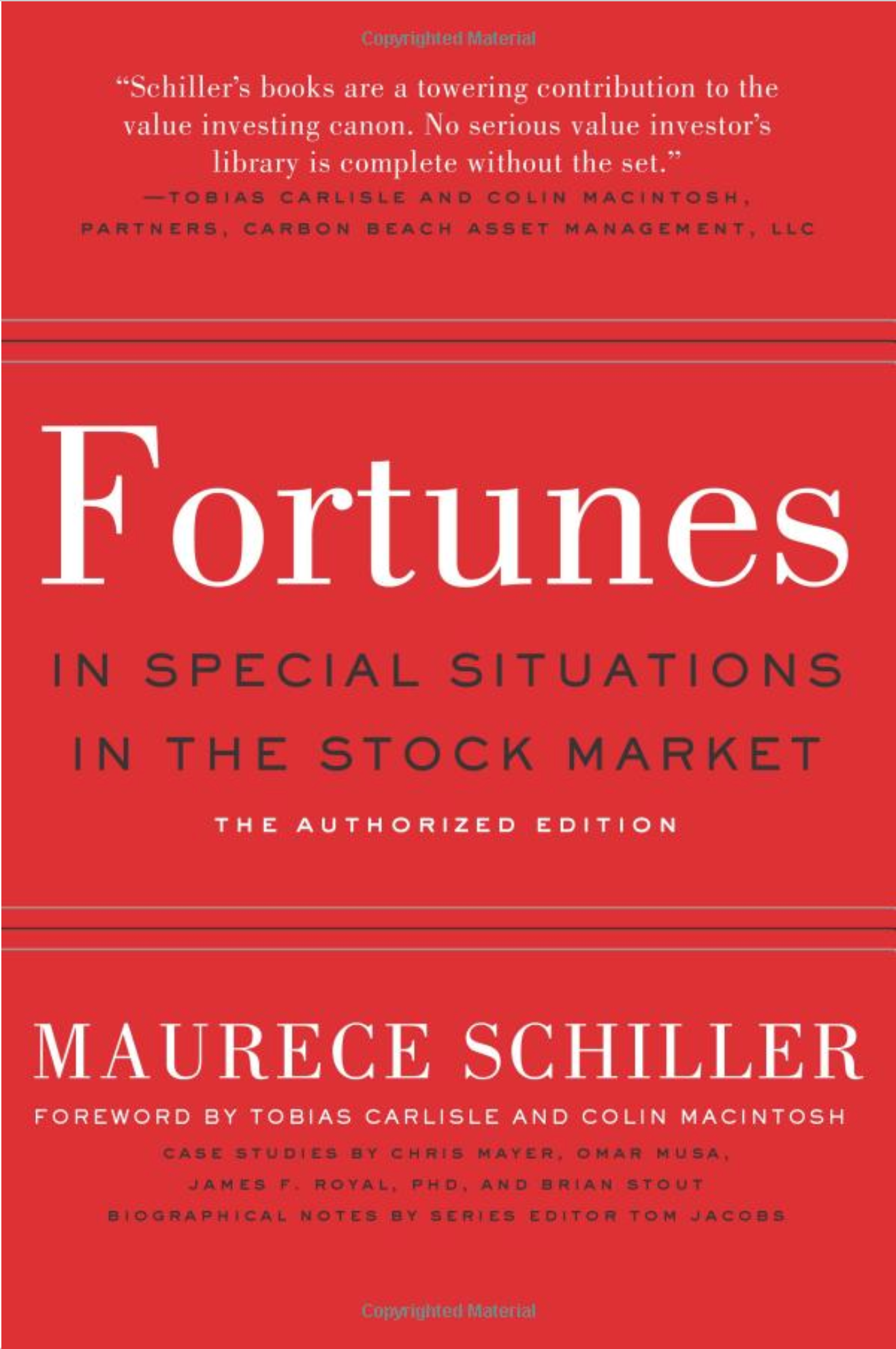 Maurece Schiller's Fortunes in Special Situations in the Stock